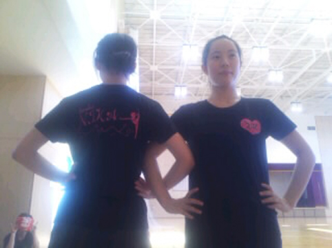 東京渋谷店で部活用のオリジナルTシャツを作成いただきました(若生様)