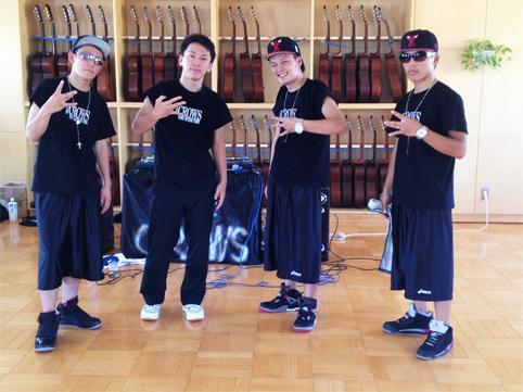東京渋谷店でダンス用のオリジナルTシャツを作成いただきました(川口様)
