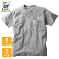 CROSS&STITCH(クロスアンドスティッチ)オープンエンドマックスウェイトバインダーネックポケットTシャツ