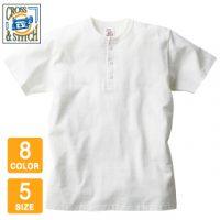 CROSS&STITCH(クロスアンドスティッチ)オープンエンドマックスウェイトヘンリーネックTシャツ