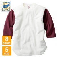 CROSS&STITCH(クロスアンドスティッチ)オープンエンド3/4スリーブベースボールTシャツ