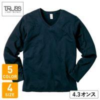TRUSS(トラス)スリムフィットVネックロングスリーブTシャツ※