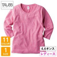 TRUSS(トラス)トライブレンド3/4スリーブTシャツ(レディース)