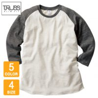 TRUSS(トラス)トライブレンドラグラン7分袖Tシャツ